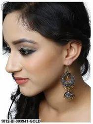 German Silver Double Tone Drop/Earrings