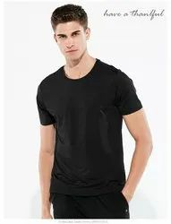 Black And White Polyester Waterproof T-Shirt