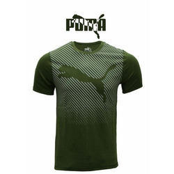 Round Half Sleeve Puma Cotton T Shirt