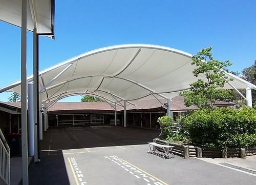 Steel Pvc Tensile Canopy Structure & Steel Pvc Tensile Canopy Structure Rs 475 /square feet Space ...