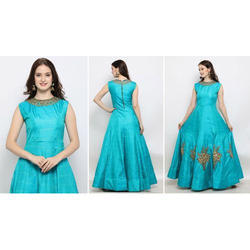 Party Ethnic Fancy Designer Gown, Packaging Type: Polly Bag