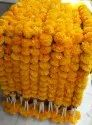 Artificial Marigold Flower Strings With Beads
