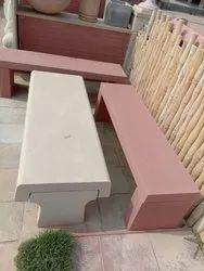 Beige Sandstone Bench