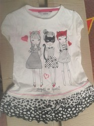 Cotton 1-4 Yrs Girls Dress