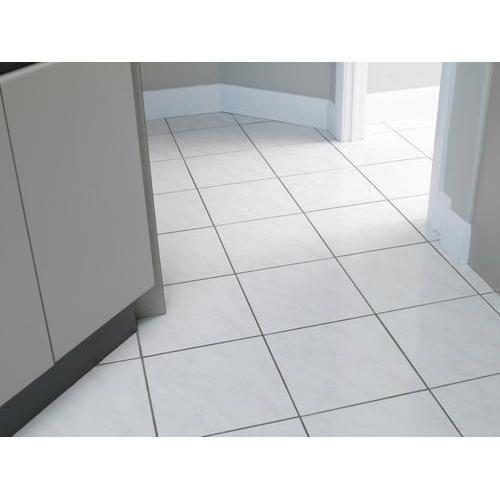 Simple White Floor Tiles