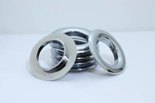 Silver Plastic Eyelets Rings