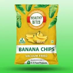 Healthy Bites Vaccum Fried Banana Chips, Packaging Size: 35 Gm