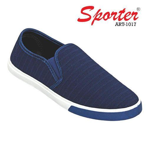Sporter Blue Canvas Men Loafers