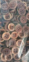 wood Plastic Designer Button, For Shirt, Packaging Type: Packet