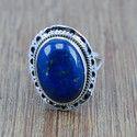 Lapis Lazuli Gemstone  925 Silver Ring
