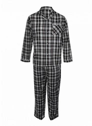 c3e1cf9cb4 Mens Black Check Pajama Set