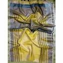 Yellow Ladies Art Silk Saree, 6.3 M (with Blouse Piece)