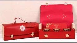 Red Bag Type Wedding Box