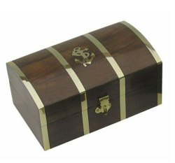 Brown Polished Rectangle Wooden Box, Size: 8x6 Inch