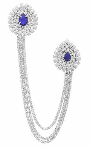 b8889a15f Silver And Blue Standard Sherwani Brooch, Rs 80 /piece, M. M. ...