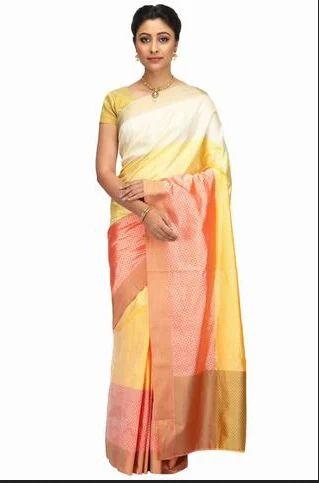 616701e31a Multicolor Hand Woven Multi Colour Banarasi Katan Pure Silk Sarees ...