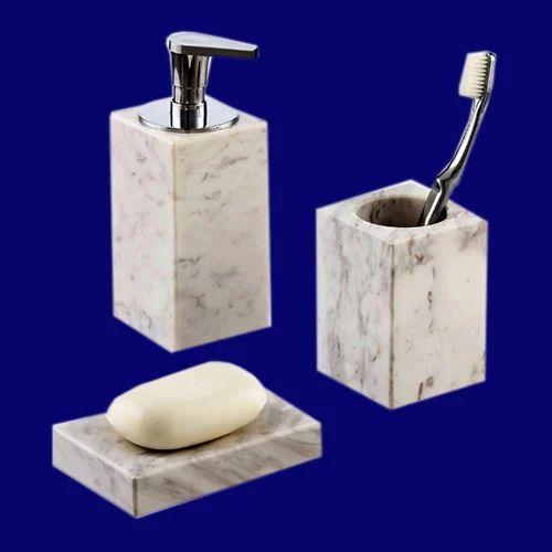 Bathroom Accessories Handicraft Marble Home Decor