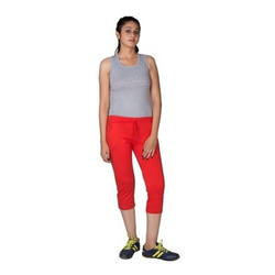 Stretchable Plain Women Capri Pant, Size: XL