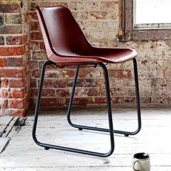Rustic Green Mahron Leather Restaurant Chair