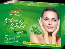 Herbal Cream Swarn Magic Neem & Tulsi Facial Kit, For Face