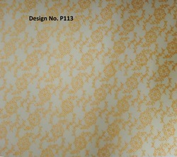 P113 Non Woven Metallic Printed Fabric