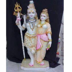 Standing Shiva Parvati Statue