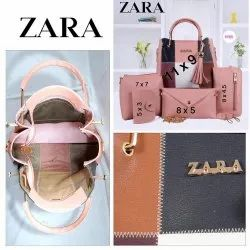 Leather Adjustable Zara Handbags Combo, For Casual Wear