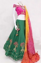 Thankar Multicolor Designer Navratri Garba Collection Lehenga Choli, 2.10, 18-35
