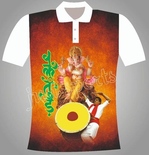 18f1b35a116 Synthetic, Polyester Casual Wear Ganesh Chaturthi T-Shirts, Rs 220 ...