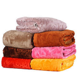 Double Acrylic Mink Blanket, Size: 90*90 Inch