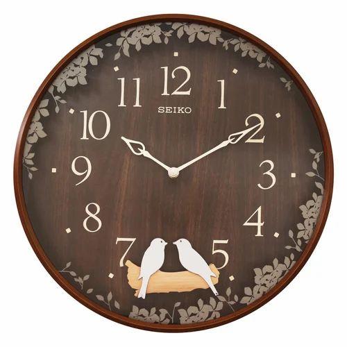 Wood Qxc237bn Seiko Pendulum Wall Clock Rs 7400 Piece