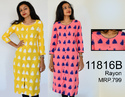 Ikkat Printed Ladies Casual Rayon Kurti