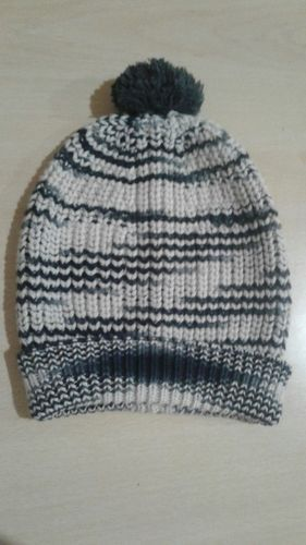 Black & White Woolen Baby Boy Stylish Cap