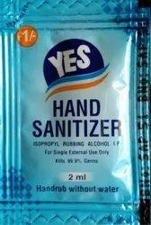 Pan Parag Brand YES Hand Sanitizer Sachet