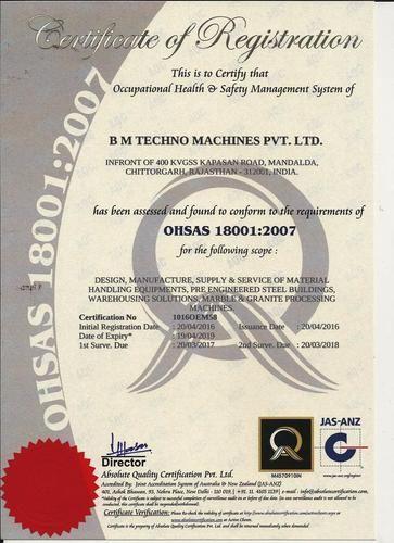B M Techno Machines Private Limited - Manufacturer from Kumbha Nagar