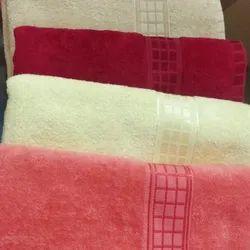 MSJ Clothings Plain Cotton Terry Bath Towel, Rectangular, 450-550 GSM