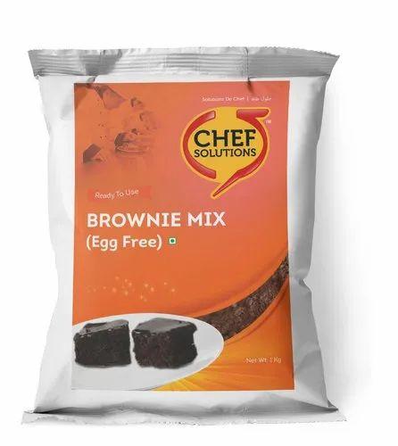 Chocolate Brown Coloured Powder Brownie Mix (Egg-free)