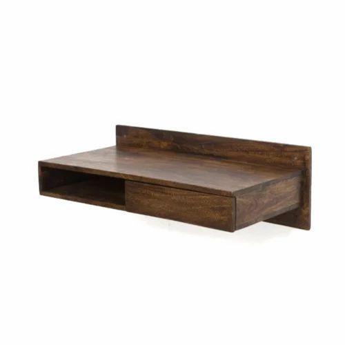 Sheesham Wood Brown Wall Mounted Study Desk Size 90 X 46 25 Cm