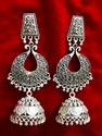 Ladies Silver Plated Jhumka Earrings