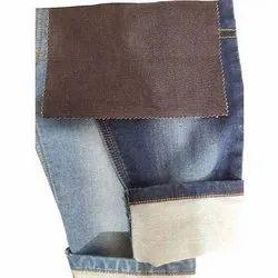 Indigo Plain Cotton Jacquard Denim Fabric, Packaging Type: Roll