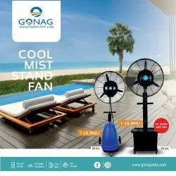 Mist Cooling Fan, For Sanitizers Spray
