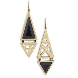 Ladies Modern Stone Earring