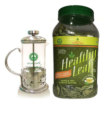 Stevia Glass+ss French Tea Press Jug, Packaging Type: Box