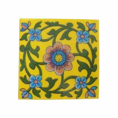 Shiv Kripa Designer Pottery Tiles Size X Inch ID - 5x5 inch tiles