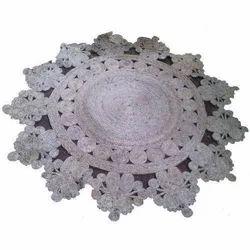 Krishna Arts Braided Jute Floor Rug