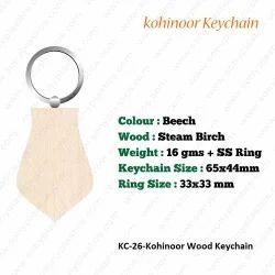 Wooden KeyChain-KC-26-Kohinoor