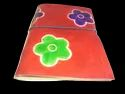Flower Print Handmade Leather Journal