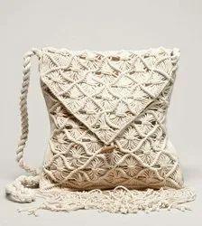 Long Shoulder Length Shoulder Bag Side Crochet Handicraft Handbag, Capacity: 3 Kg