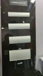 Silver Aluminium Curved Modular Signage