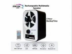 Zoom Star Bluetooth Wireless Rechargeable Speaker 29/30 ABS Body